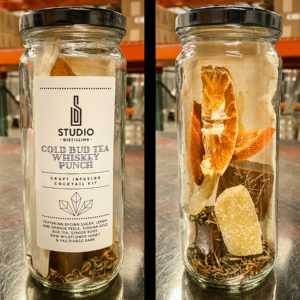 Craft Infusion Cocktail Kit Gold Bud Whiskey Punch